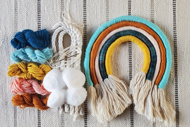 DIY fiber boho rainbow kit