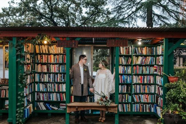 Book Store Wedding in Ojai