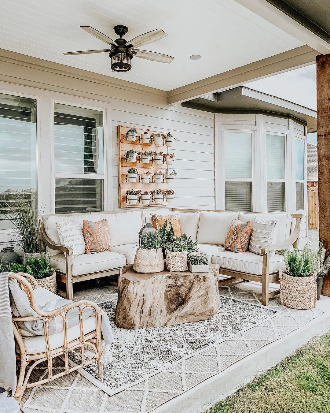 bring boho vibes to outdoor living