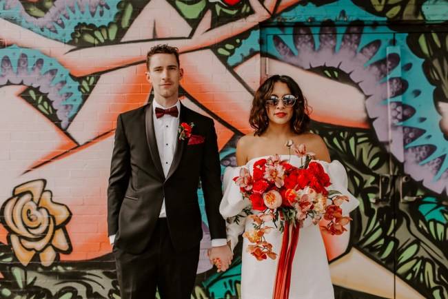 Mid-Century Meets 70's Glam Wedding Inspiration
