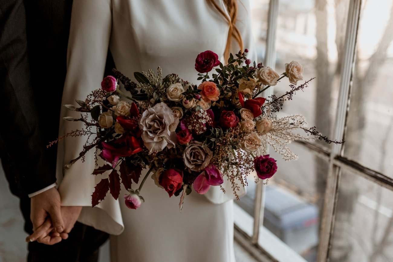 Moody bouquet by Revel Petals