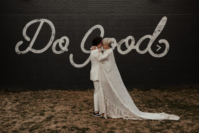 Do Good Mural with Elopement