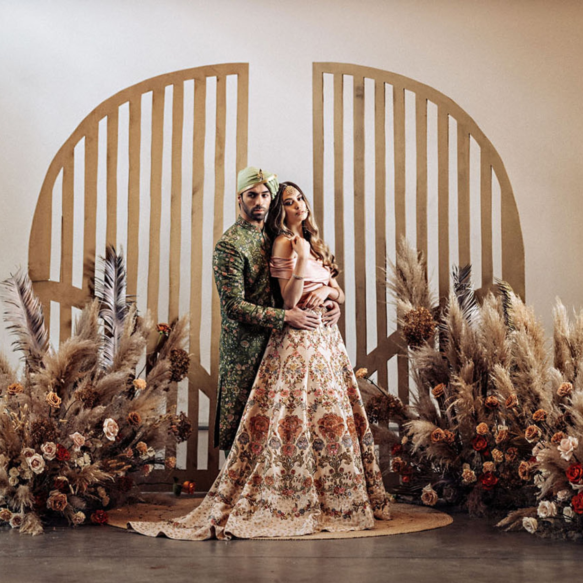 Must-See Intimate Indian Wedding Inspiration with Boho Details