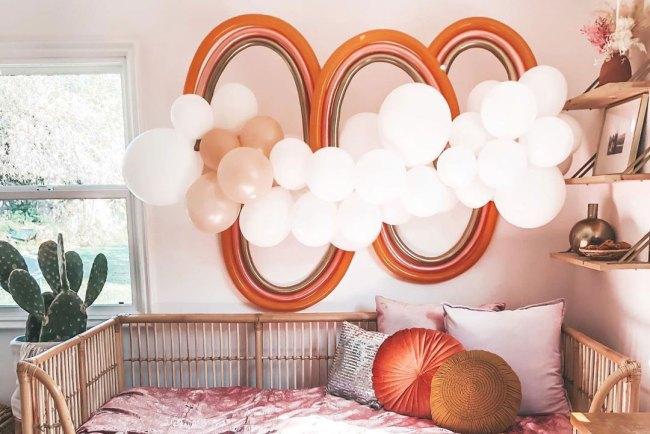 boho rainbow balloons