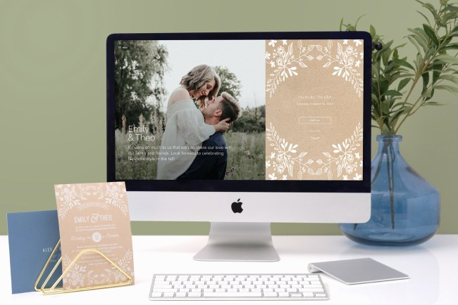 joy wedding website