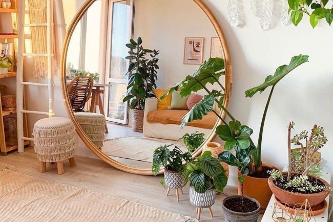 boho bedroom mirror