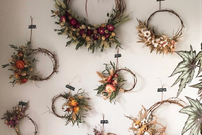 mini dried wreaths