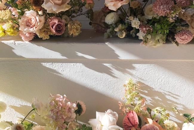 flowers by bathtub