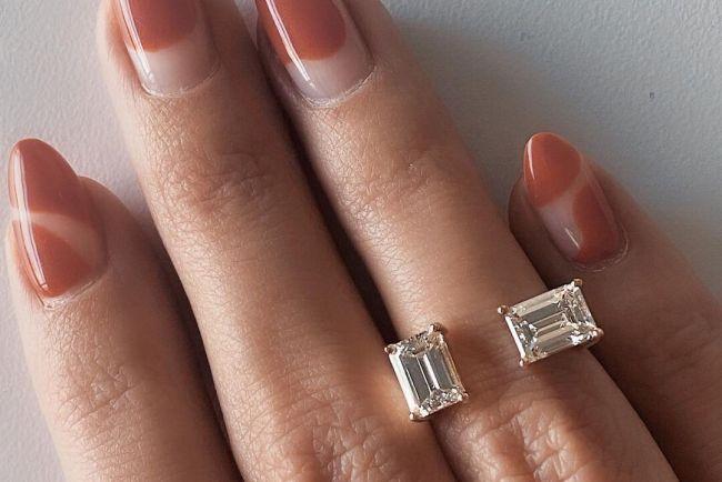 toi et moi engagement rings