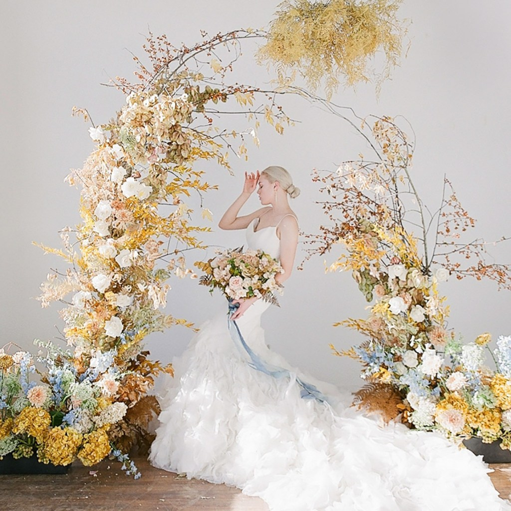 pantone yellow wedding decor