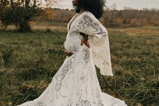 wedding dress for pregnant bride