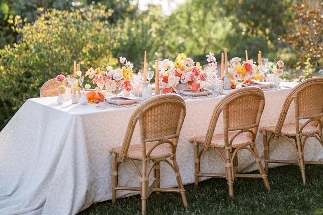 bridal shower summer table