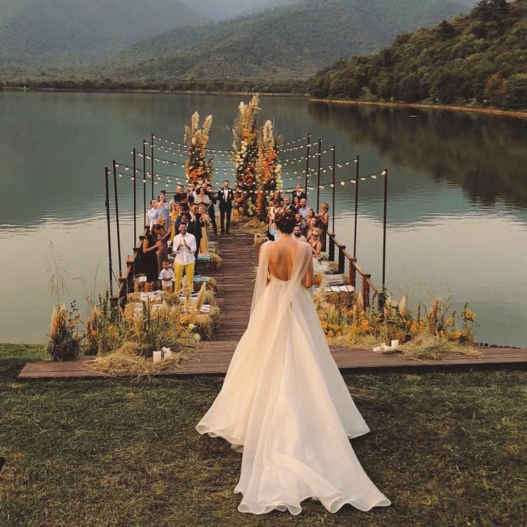 wedding on a dock