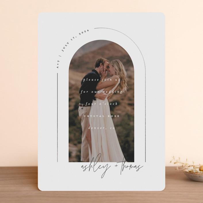 minted arch minimalist wedding invitation