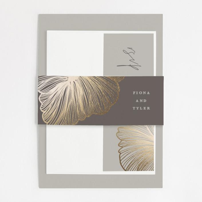 minted gold foil invitation