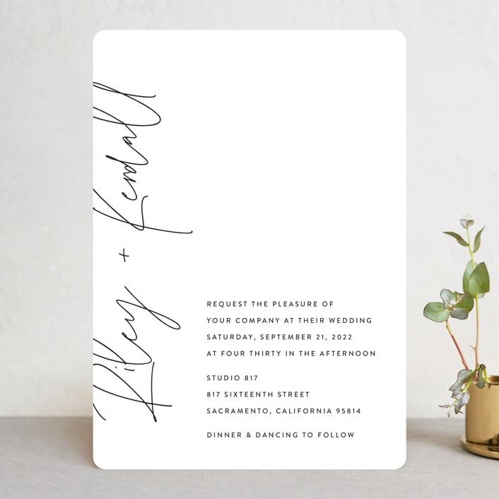 minted modern script invitation