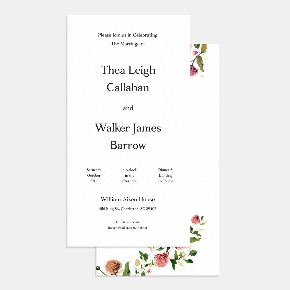 venamour wedding suite invitation