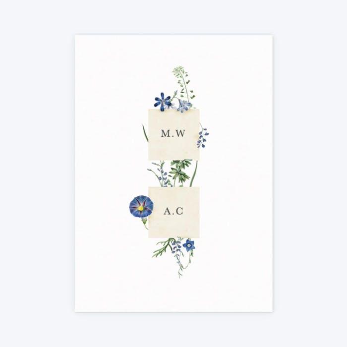 wildflower blooms floral minimal wedding invitation