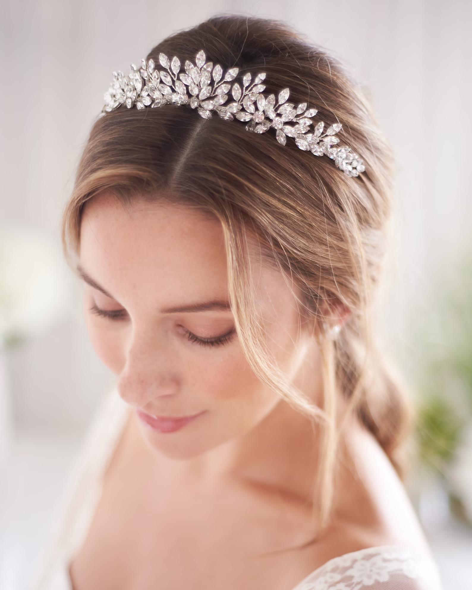 Bride in Crystal Wedding Tiara