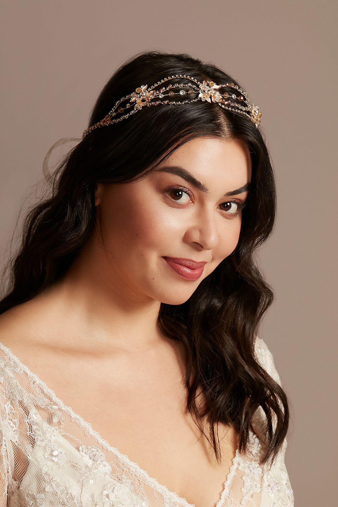 Crystal Loops Floral Headband best wedding crowns