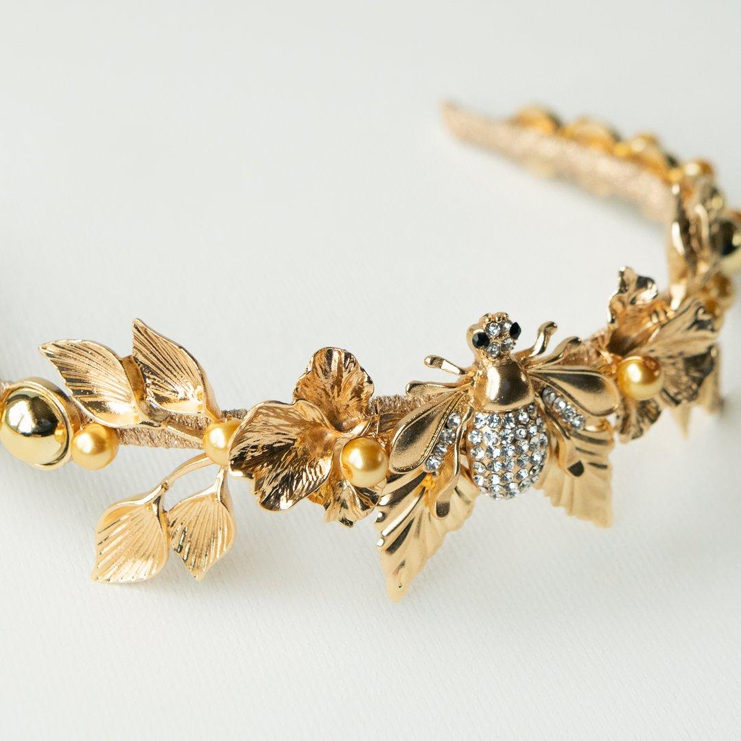 best bridal crowns gold fiora