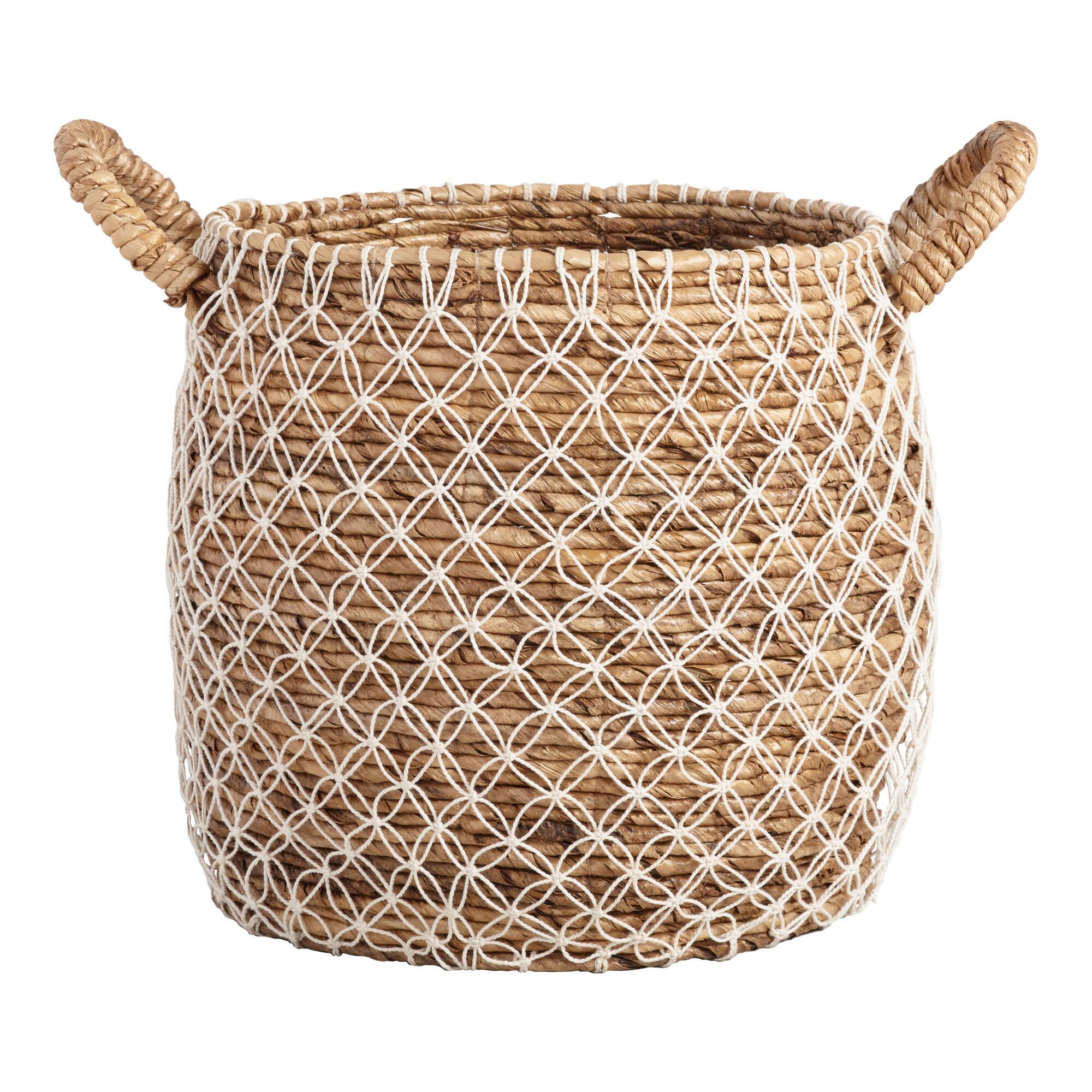 Woven Macrame Basket Best Bridal Shower Gifts