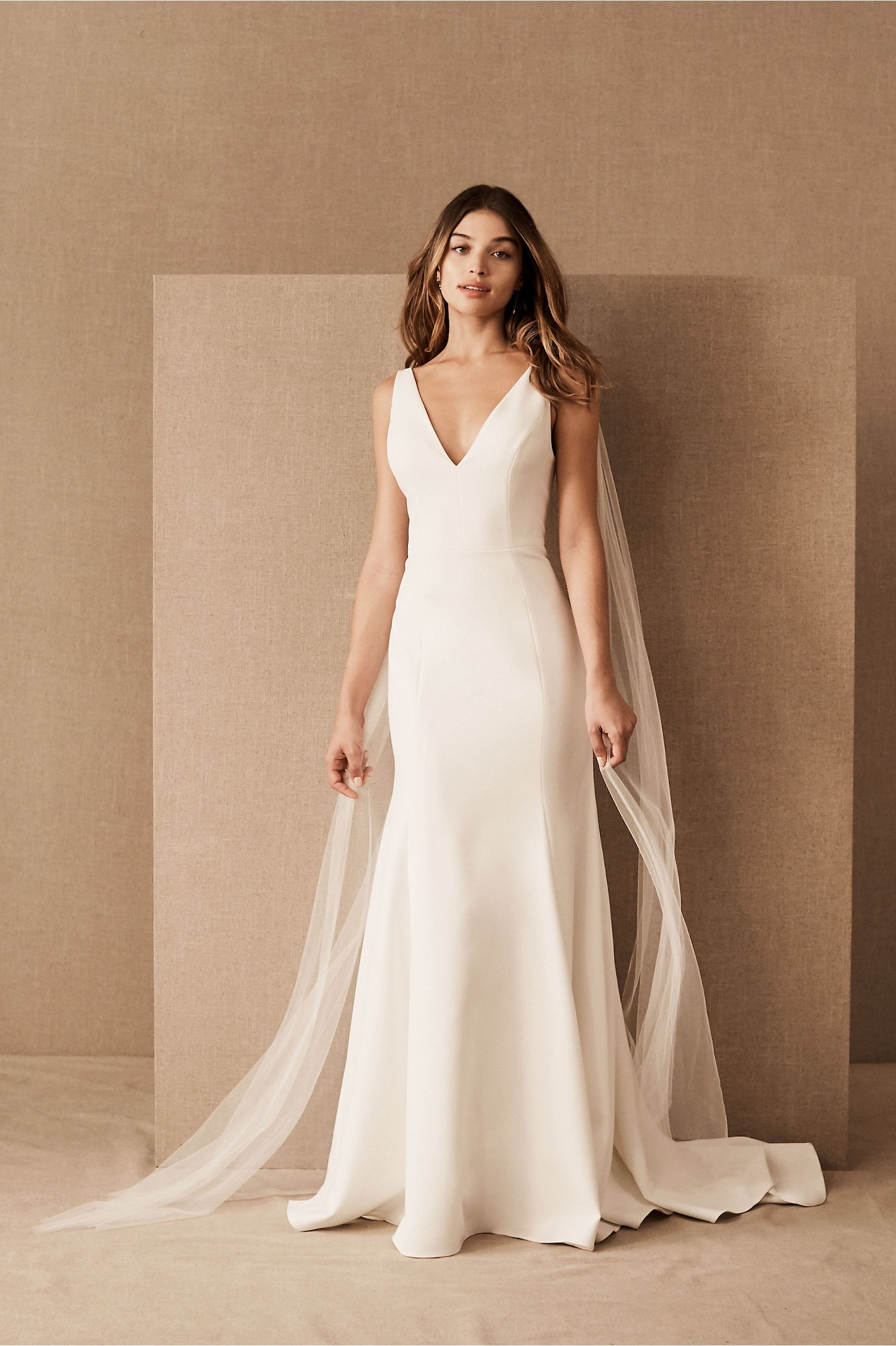 Jenny Yoo Tana wedding dress with off shoulder tulle billowing details