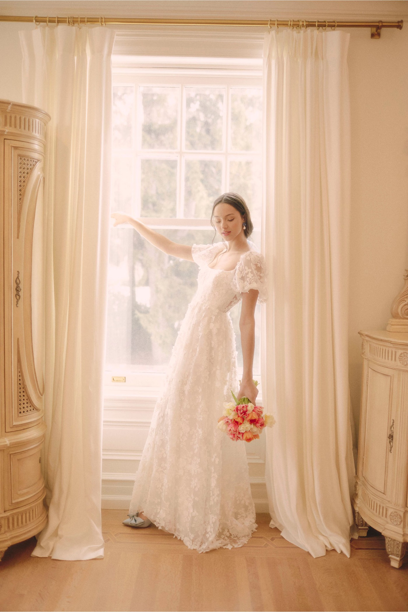bhldn lace wedding dresses online by Willowby by Watters