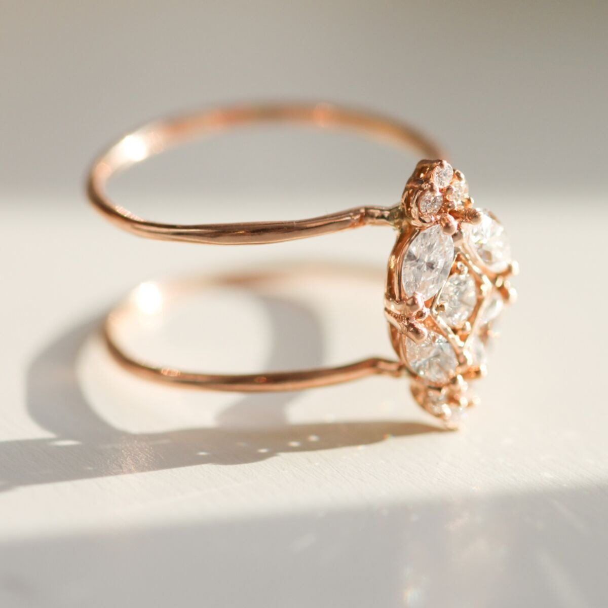 rose gold bohemian double band