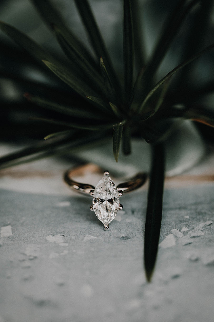 marquise cut moissanite ring