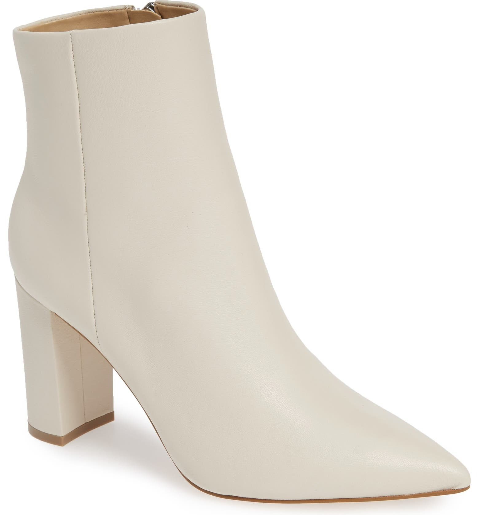 Marc Fisher white wedding boots