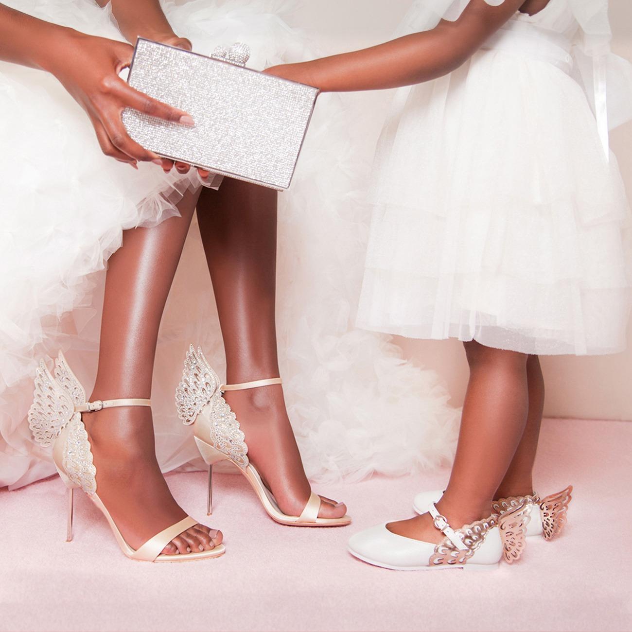 Sophia Webster butterfly wedding shoes