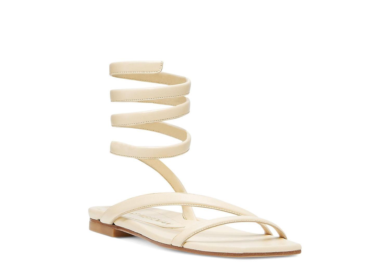 Stuart Weitzman flat wrap wedding sandals