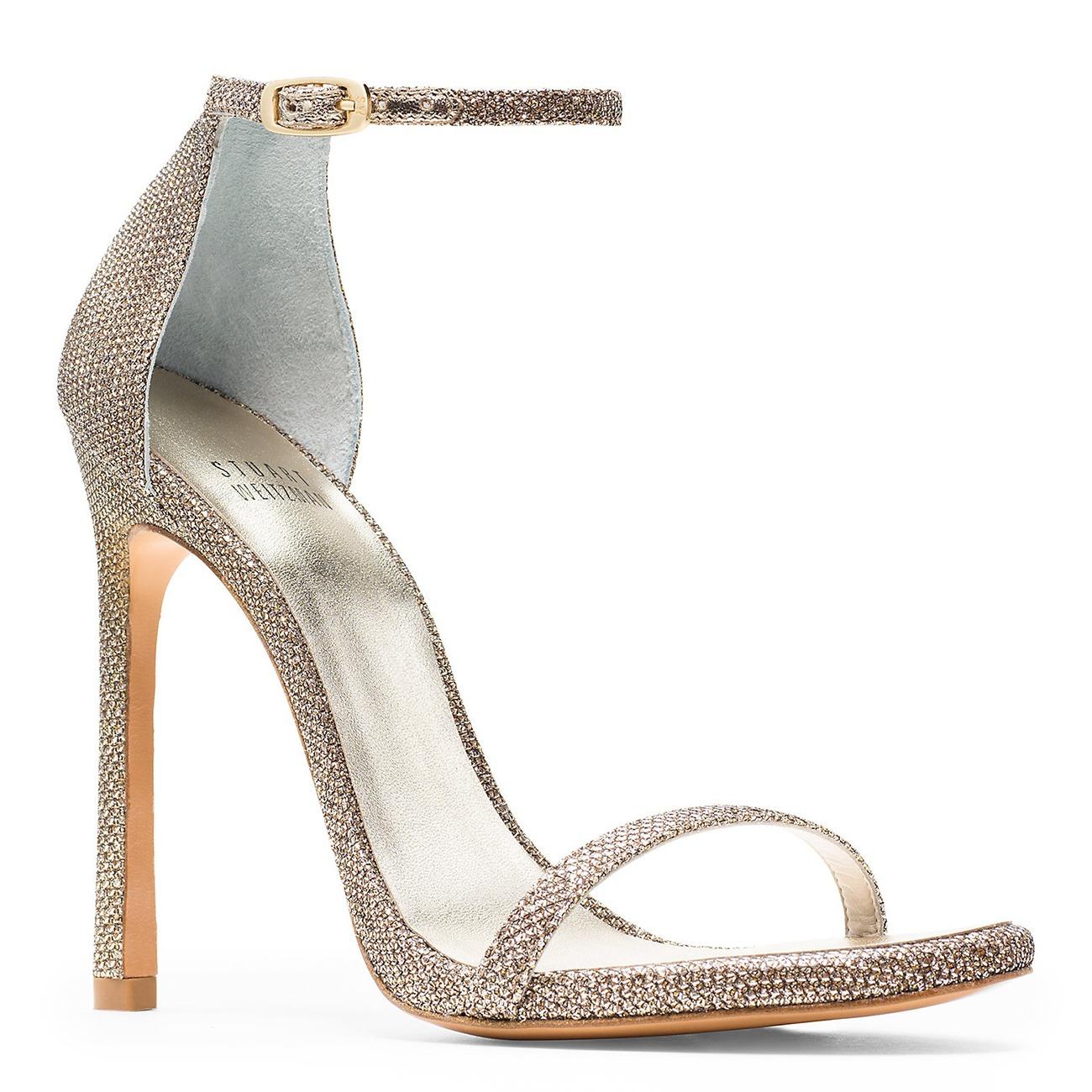 Stuart Weitzman classic Nudist wedding sandal heels