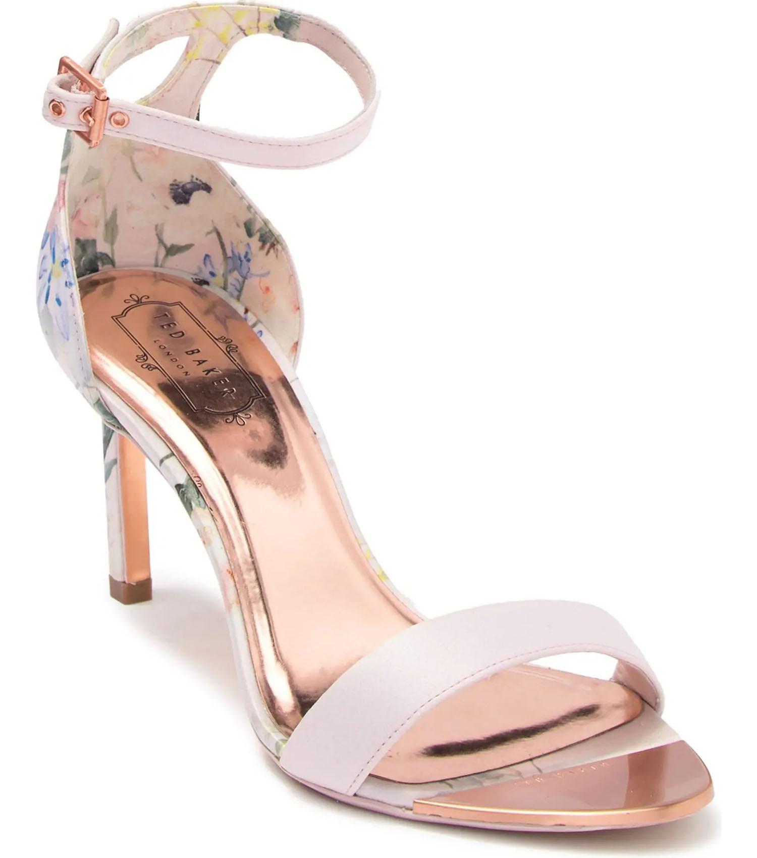 Ted Baker floral sandal heel Nordstrom Rack wedding shoes