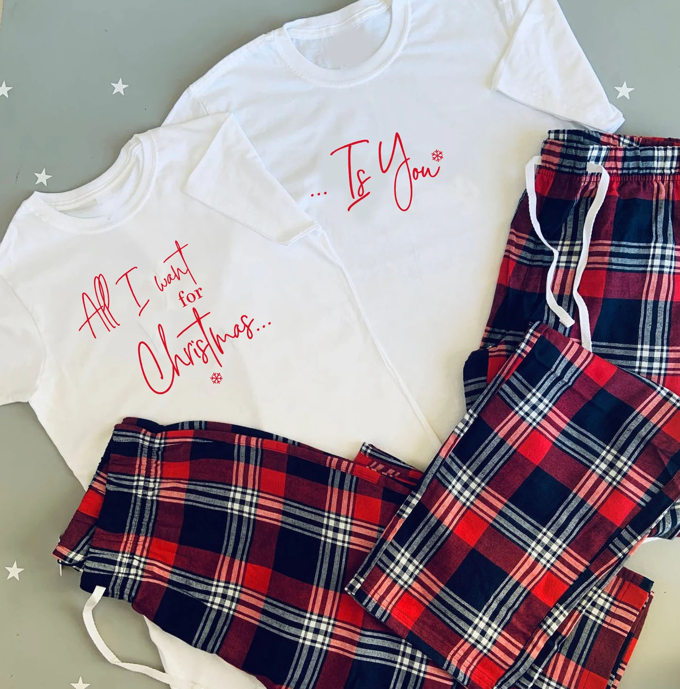 all i want for Christmas is You Couples Pajamas