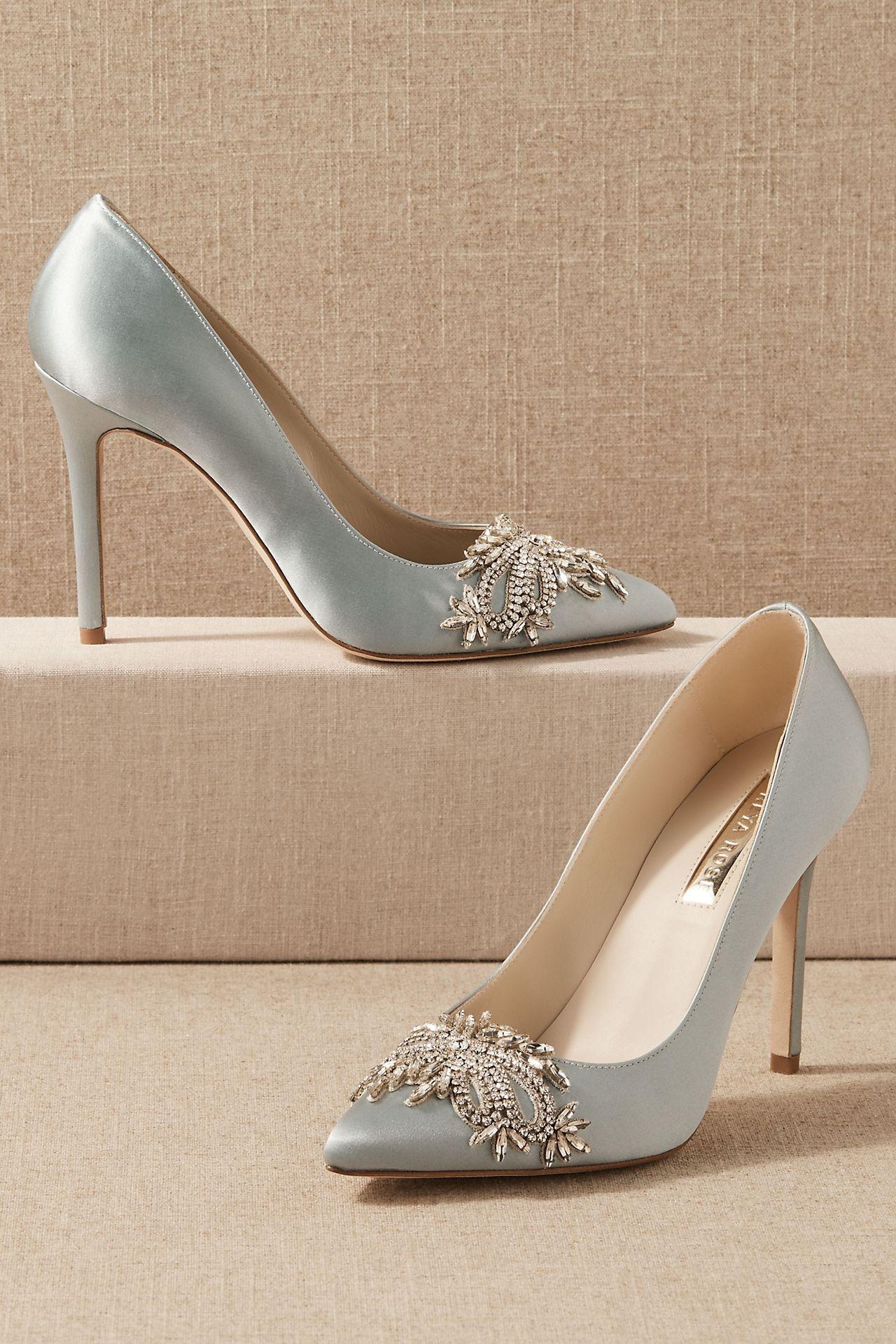 baby blue Anthropologie wedding heels