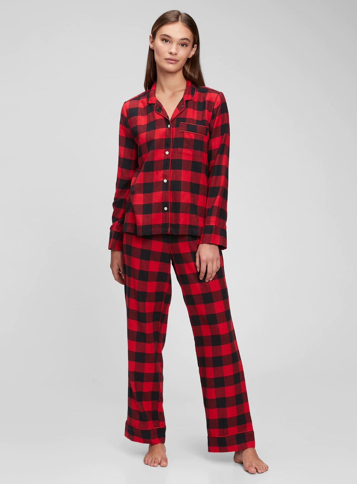 christmas pajamas plaid matching couple