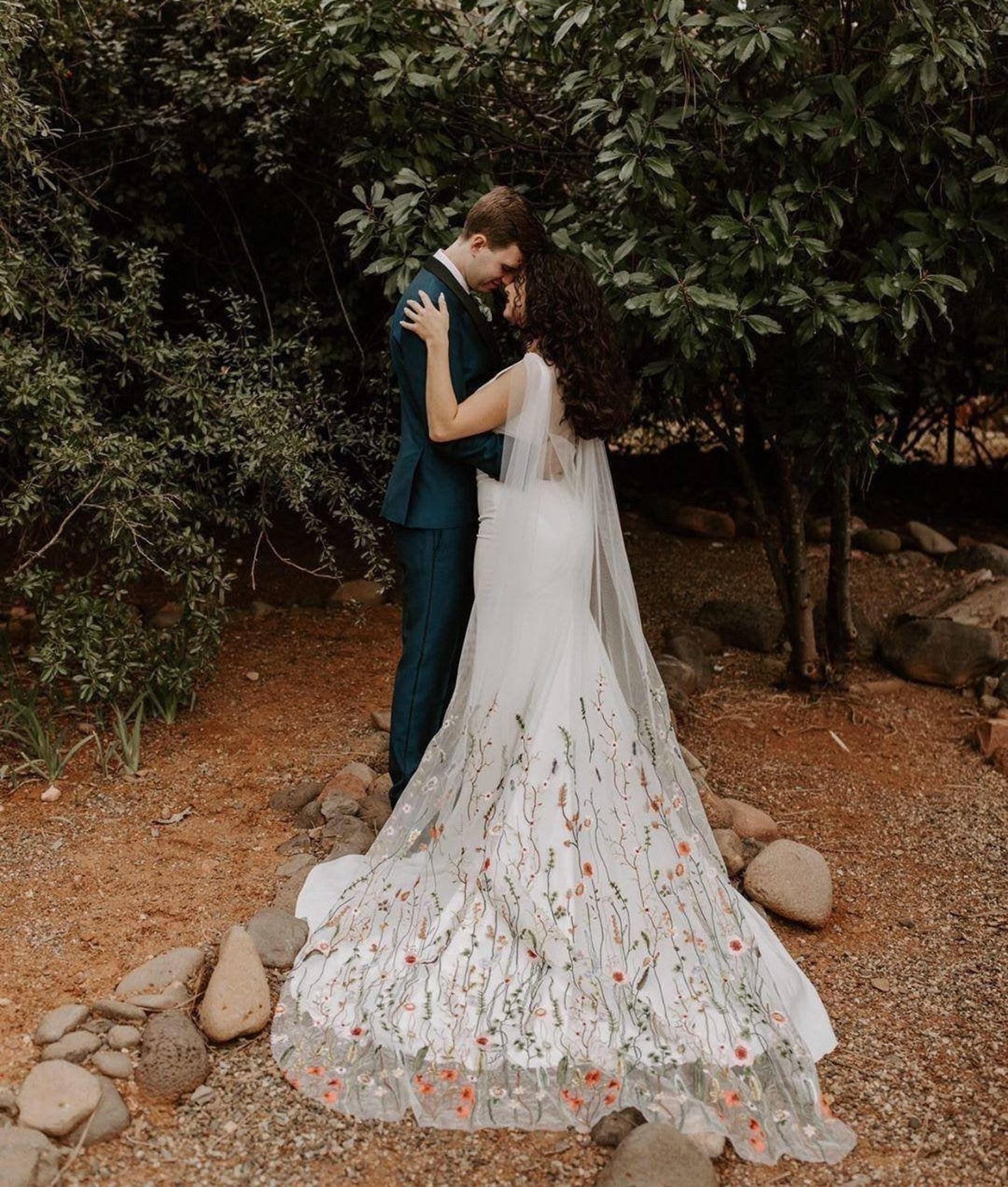 classic lennox multicolored bridal cape