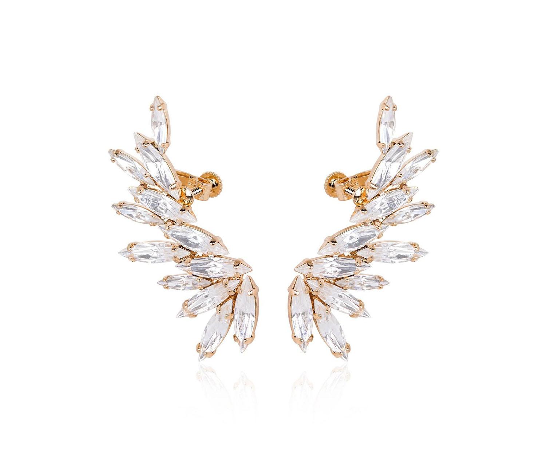 marquise cut crystal Swarovski cuff earrings