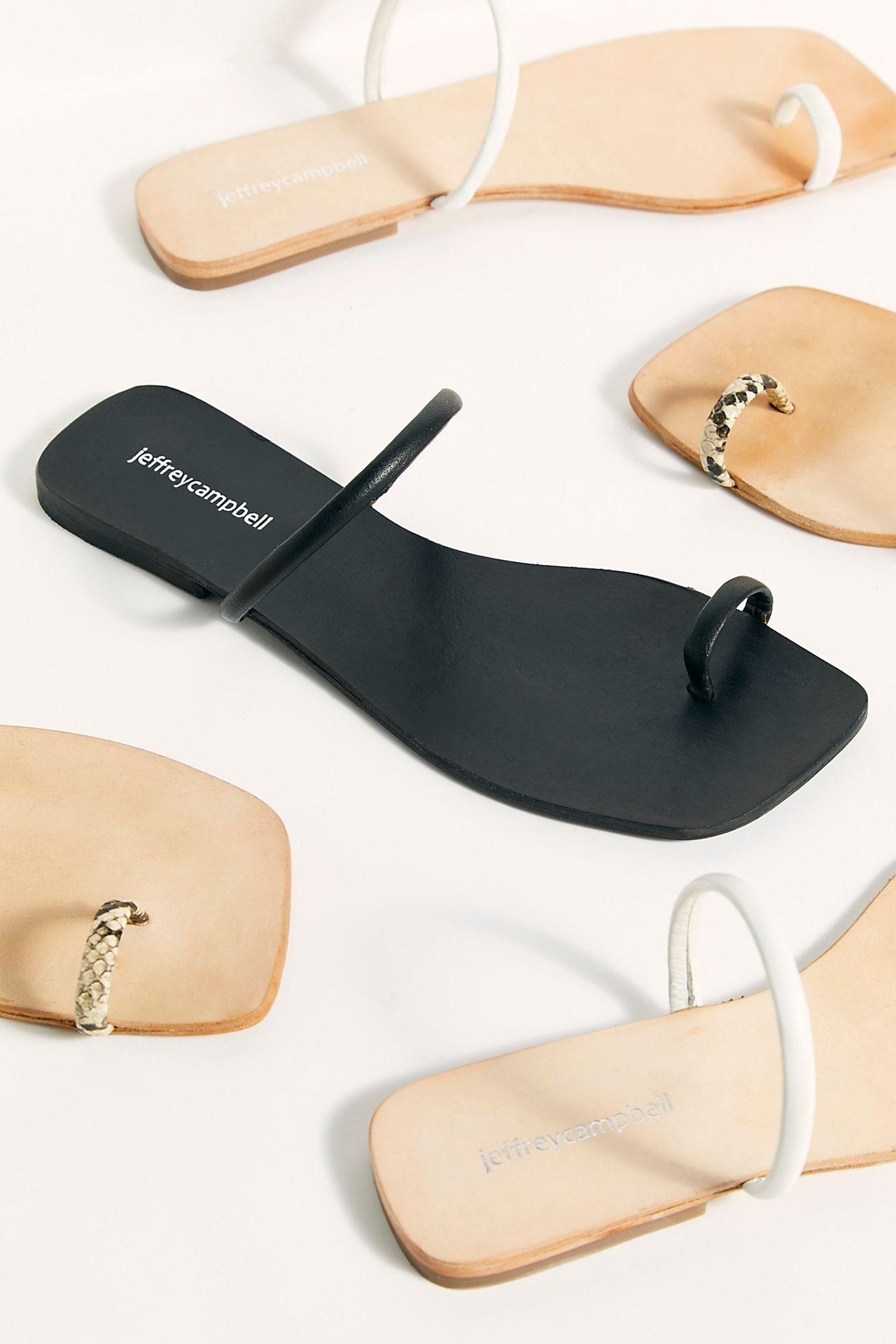 minimal Free People wedding sandal flats