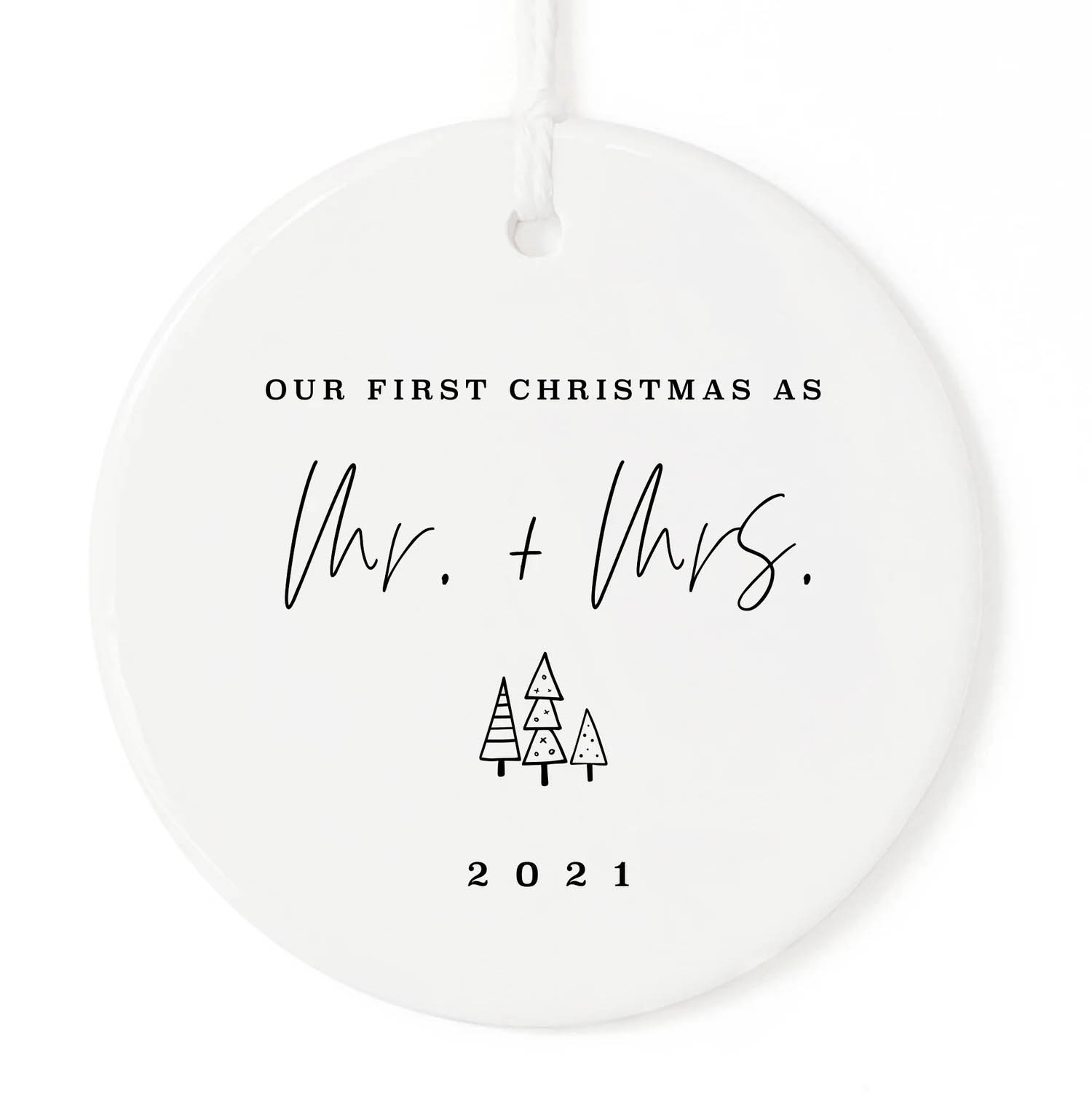 our first christmas as mr and mrs 2021 ornament