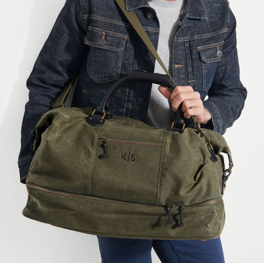 personalized overnighter bag