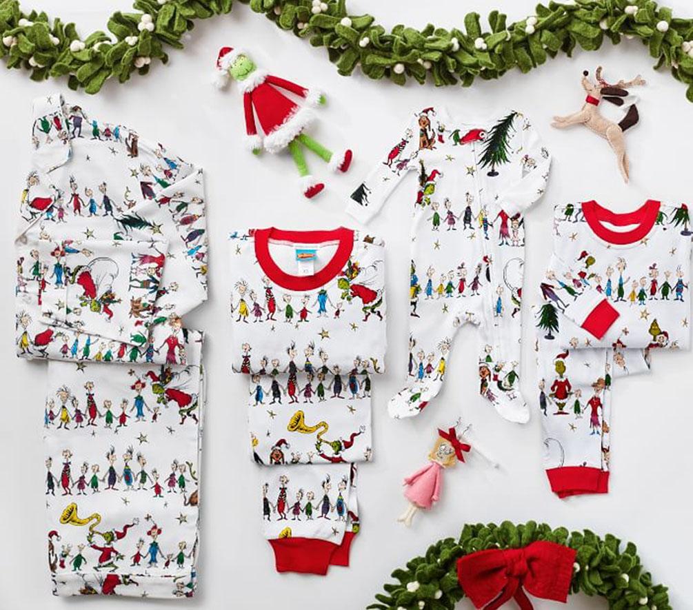 the grinch matching christmas pajamas