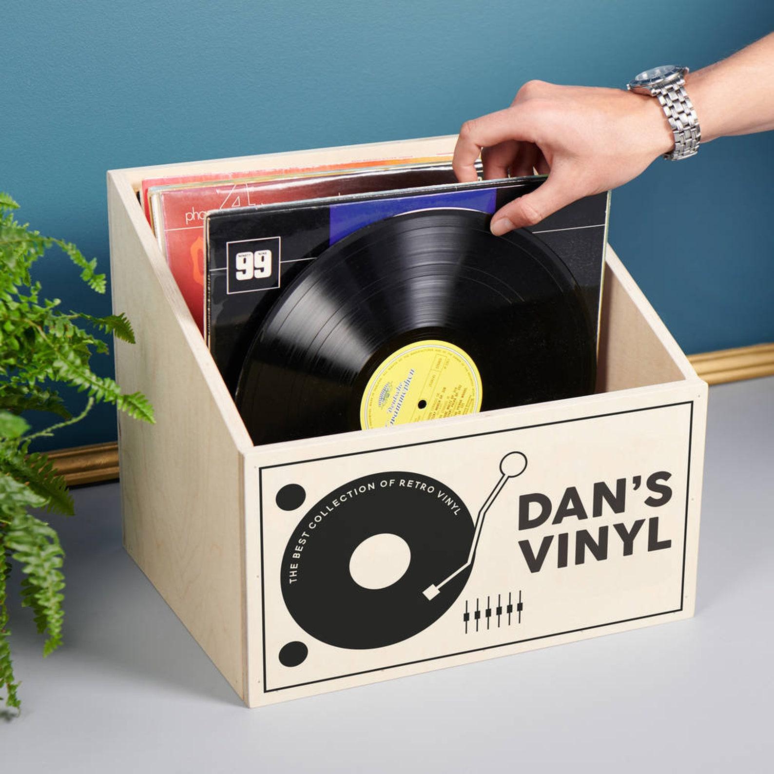 vinyl record personal storage box