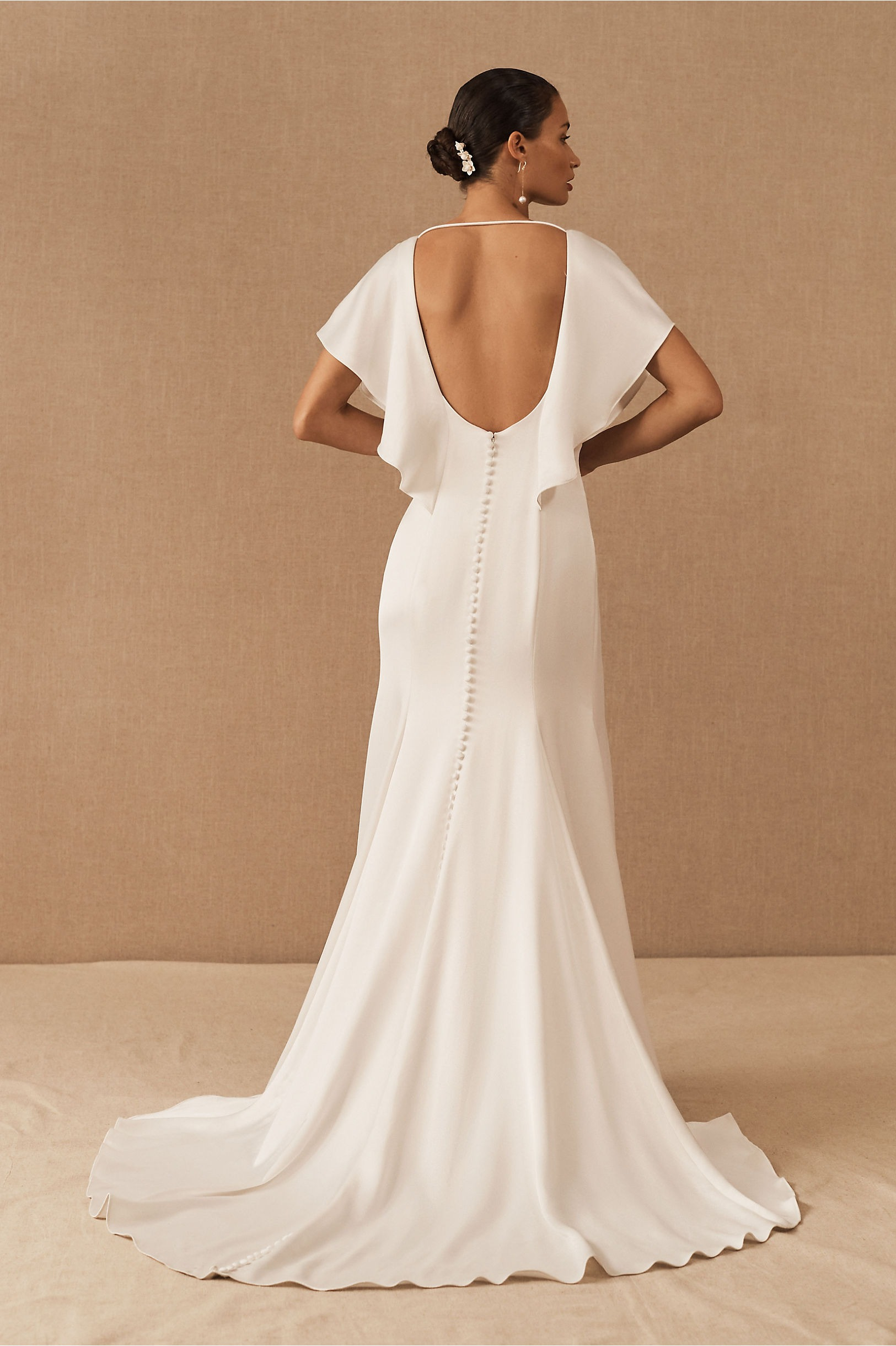wedding gown with cape mini sleeves jenny yoo