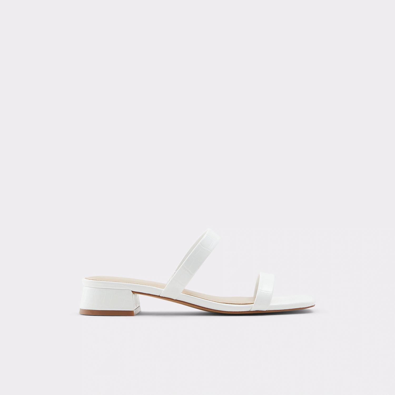 white block wedding sandal heels from ALDO