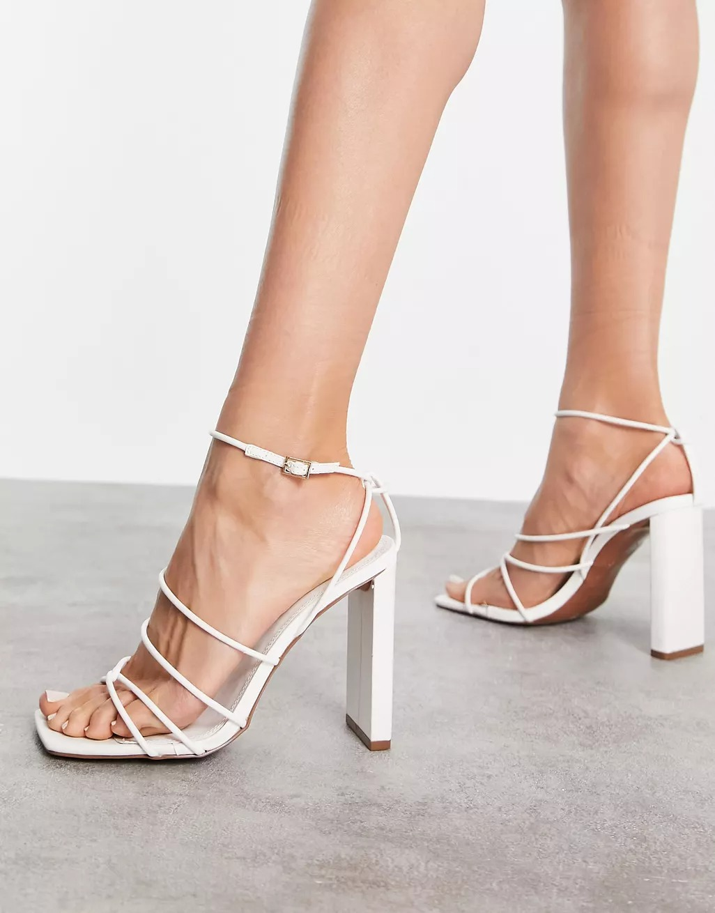 white strappy sandal heels wedding shoes from ASOS