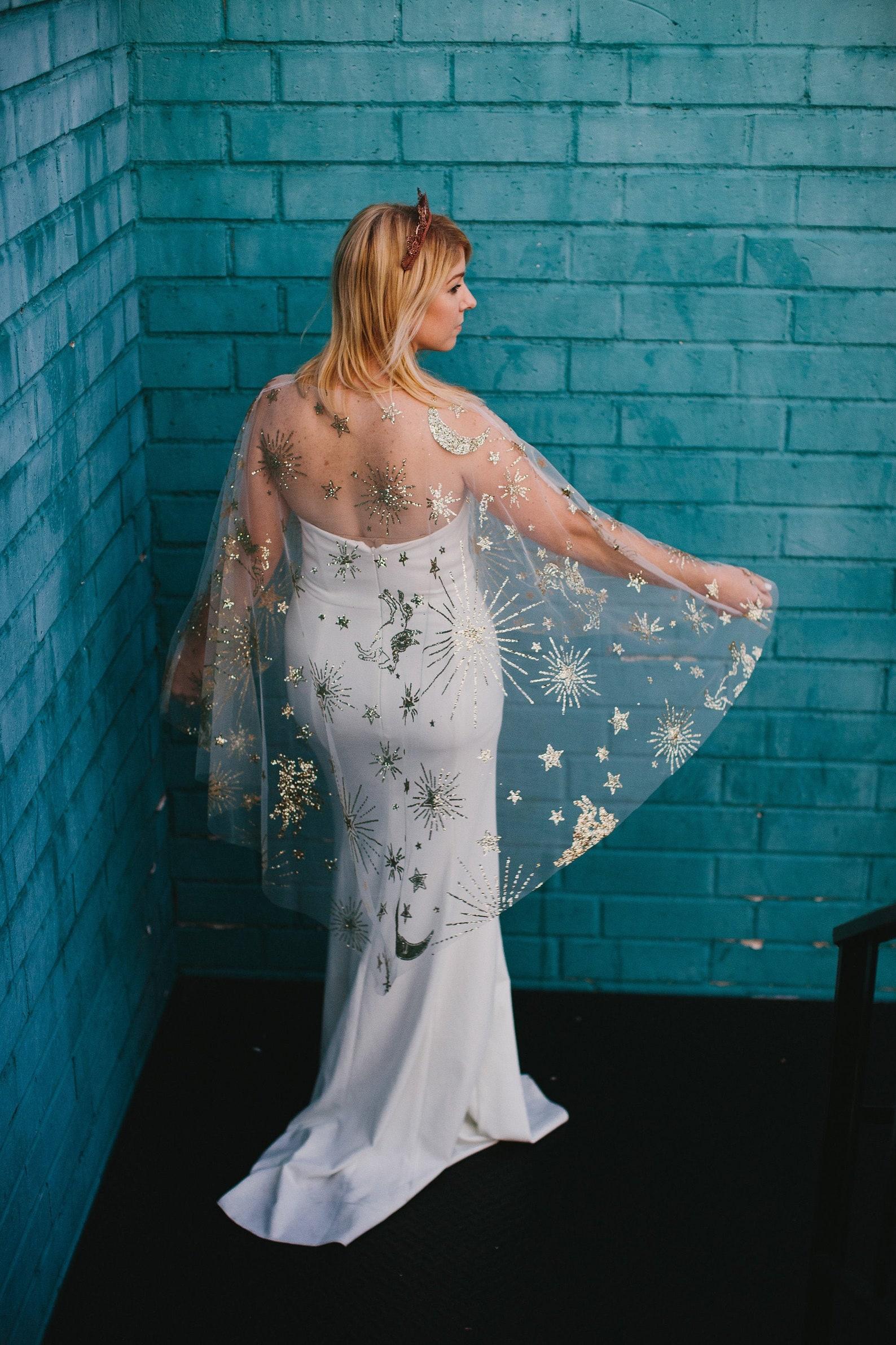zenith celestial mid-length bridal cape