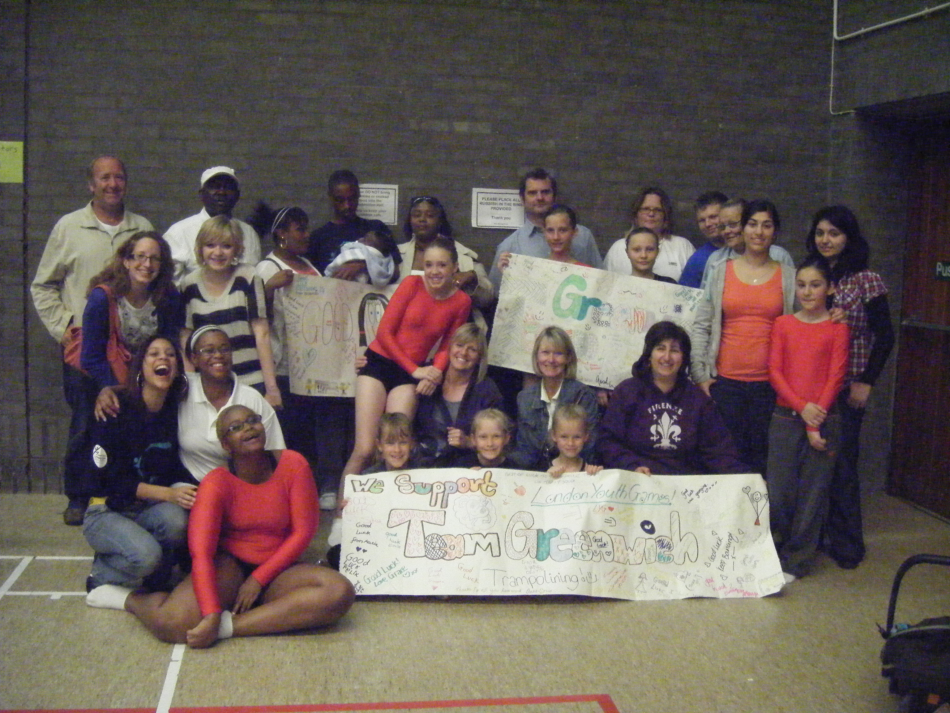 The Squad, family and friends supporting us at London Youth Games 2009
